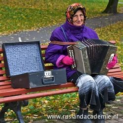 Accordioniste, Novgorod. / Foto: © Trijnie Duut.