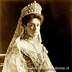 Foto van tsarina Aleksandra Fjodorovna (Alix van Hessen-Darmstadt), 1908.
