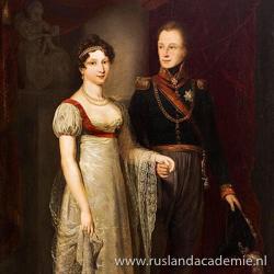 Jan Willem Pieneman (1779-1853): 'Huwelijksportret van Anna Paulovna en Willem II', 1816, Stadsmuseum, Collectie gemeente Tilburg.