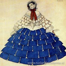 Ontwerp van Léon Bakst (1866-1924) voor 'Carnaval', 1910.