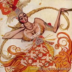 Ontwerp van Leon Bakst (1866-1924) voor 'De Vuurvogel', 1910.