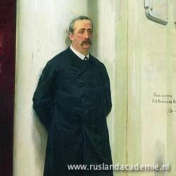 Ilja Repin (1844-1930) / 'Portret van componist en scheikundige Alexander Borodin', 1888. / Russisch Museum, Sint-Petersburg.