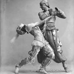 Vera en Michael Fokine in 'Scheherezade', 1914.