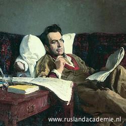 Ilja Repin (1844-1930) / 'Portret van de componist Michael Glinka', 1887 / Tretjakovgalerij, Moskou.