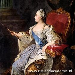 Fjodor Rokotov (1736-1808) / 'Catharina de Grote', 1763, Tretjakovgalerij, Moskou.