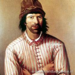 Peter de Grote als timmerman.