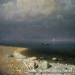 Arkhip Koeindzhi (1842-1910): 'Het Ladogameer', 1873.