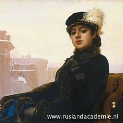 Ivan Kramskoj (1837-1887) / 'Portret van een onbekende vrouw', 1883 /Tretjkovgalerij, Moskou.