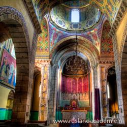 Het interieur van de Armeense kerk in Lviv, Oekraïne. / Foto: © Robin Schuil.