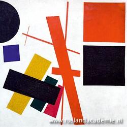 Kazimir Malevich (1878-1935) / 'Suprematisme. Abstracte compositie', 1915. / Yekaterinburg Museum van Schone Kunsten, Rusland.