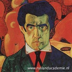 Kazimir Malevich (1878-1935) / Zelfportret', 1908 of 1910-1911 / Tretjakovgalerij, Moskou.