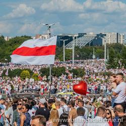Protesten tegen Lukashenko in Minsk, Wit-Rusland, op 16 augustus 2020. / Foto: © Homoatrox.