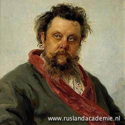 Ilja Repin (1844-1930) / 'Portret van M.P. Moessorgski', 1881. / Tretjakovgalerij, Moskou.