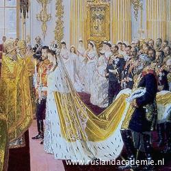 Ilja Repin (1844-1930) / 'Het huwelijk van Alexandra Fjodorovna en Nicolaas II', 1895 / Hermitage, Sint-Petersburg.