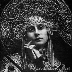 Foto van de wereldberoemde Russische ballerina Anna Pavlova, 1911.