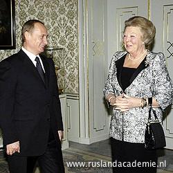 Vladimir Poetin met koningin Beatrix, 25 november 2004. / © Foto: www.kremlin.ru.