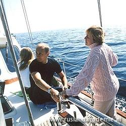 Vladimir Poetin met zijn vrouw en dochters op vakantie in Kraj Primorski ('Maritieme Provincie'), in het zuidoosten van Rusland. / © Foto: www.kremlin.ru.