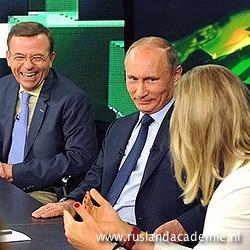 Vladimir Poetin bij Russia Today. / Foto: © 2013 www.kremlin.ru.