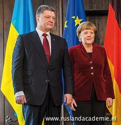 Petro Porosjenko en Angela Merkel op de 51ste Veiligheidsconferentie in München, 7 februari 2015./ Foto: © 2015 Müller / MSC.