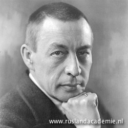 Sergej Rachmaninov op een foto van Kubey Rembrandt, 1921.