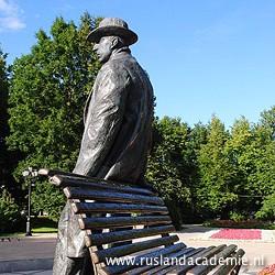 Standbeeld van de Russische componist Rachmaninov in zijn geboortestad Novgorod. / Foto: © 2013 Trijnie Duut.