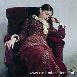 Ilja Repin (1844-1930) / 'Even uitrusten', 1882 /Tretjakovgalerij, Moskou.