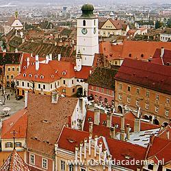 Het centrum van Sibiu, Roemenië. / Foto: © 2008 Amorphisman.