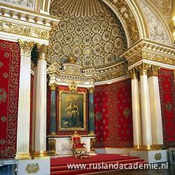 De kleine troonzaal in de Hermitage, ontworpen ter ere van Peter de Grote. / Foto: © Jacopo Amigoni.