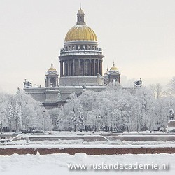 De Izaäkkathedraal in de sneeuw. / Foto: © 2010 Sav-1667.