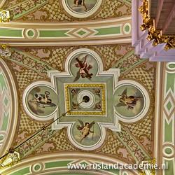 Het rijk gedecoreerde plafond van de Petrus en Pauluskathedraal. / Foto: © 2013 Trijnie Duut.