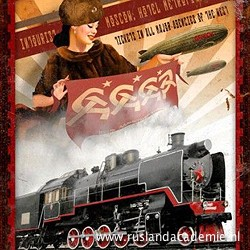 Poster voor de Trans-Siberië Express.