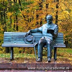 Standbeeld van Tsjaikovski, bij het Tsjaikovski Huis en Museum in Klin, Rusland. / Foto: © 2013 Trijnie Duut.
