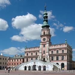 Het imposante stadhuis van de Poolse renaissancestad Zamosc. / Foto: © Mceurytos at Polish Wikipedia.