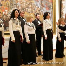 Een aantal vrouwen van het Russisch-orthodoxe ensemble 'Zlatoust'.